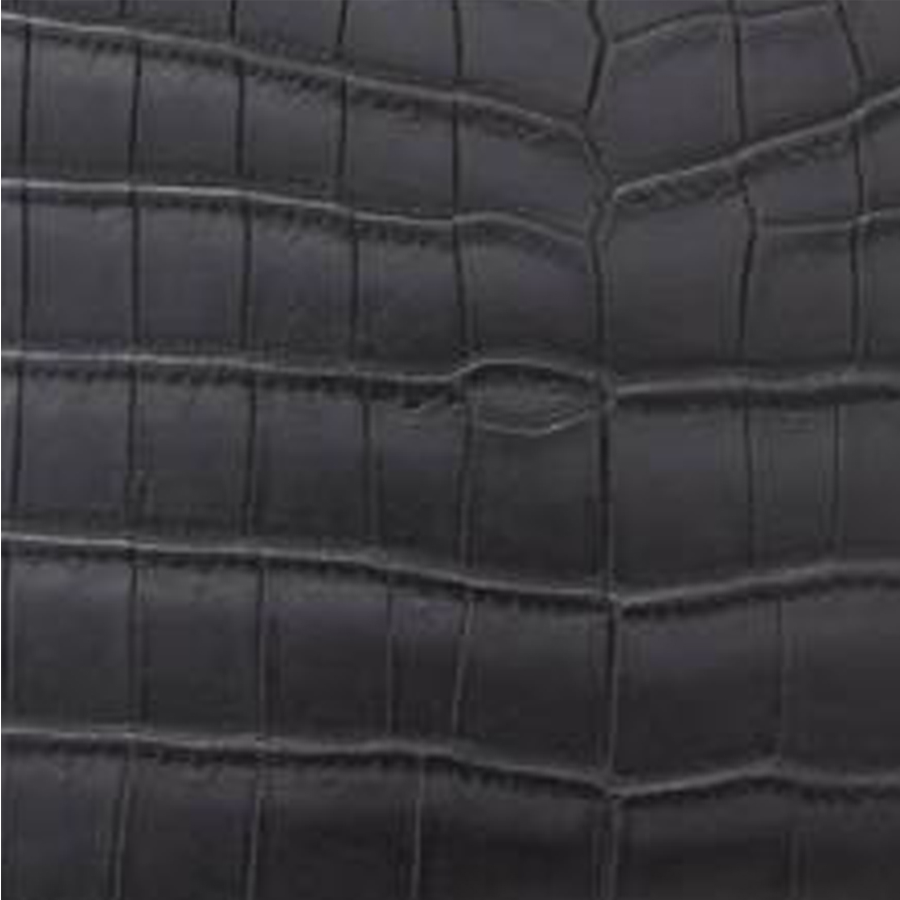 Crocodile Matt Black