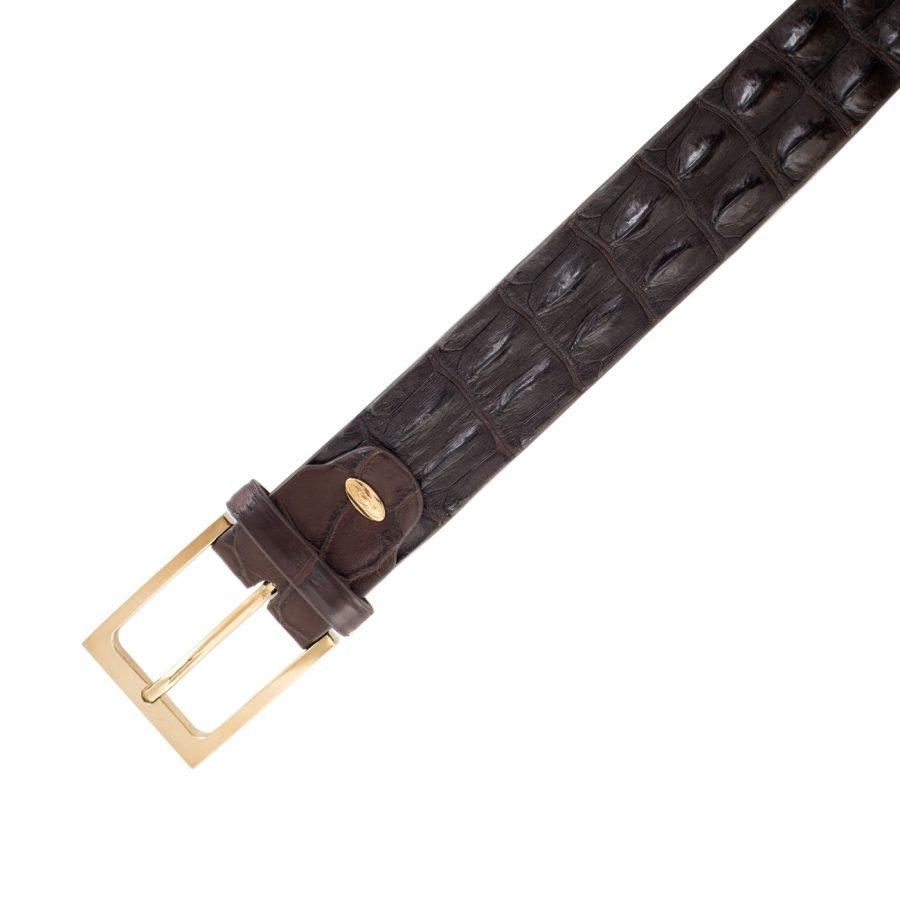 Horn Back Crocodile Trouser Belt 2