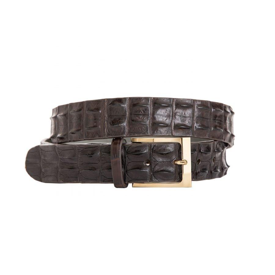 Horn Back Crocodile Trouser Belt 1