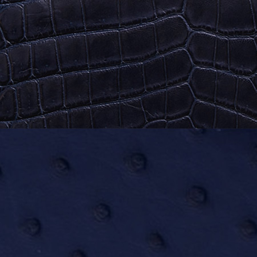Crocodile Navy & Ostrich Iris Combination