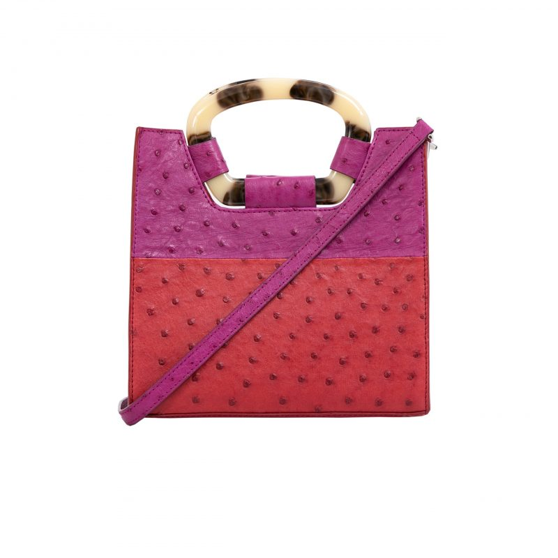 Palma in Rouge & Orchid Ostrich Combination 1