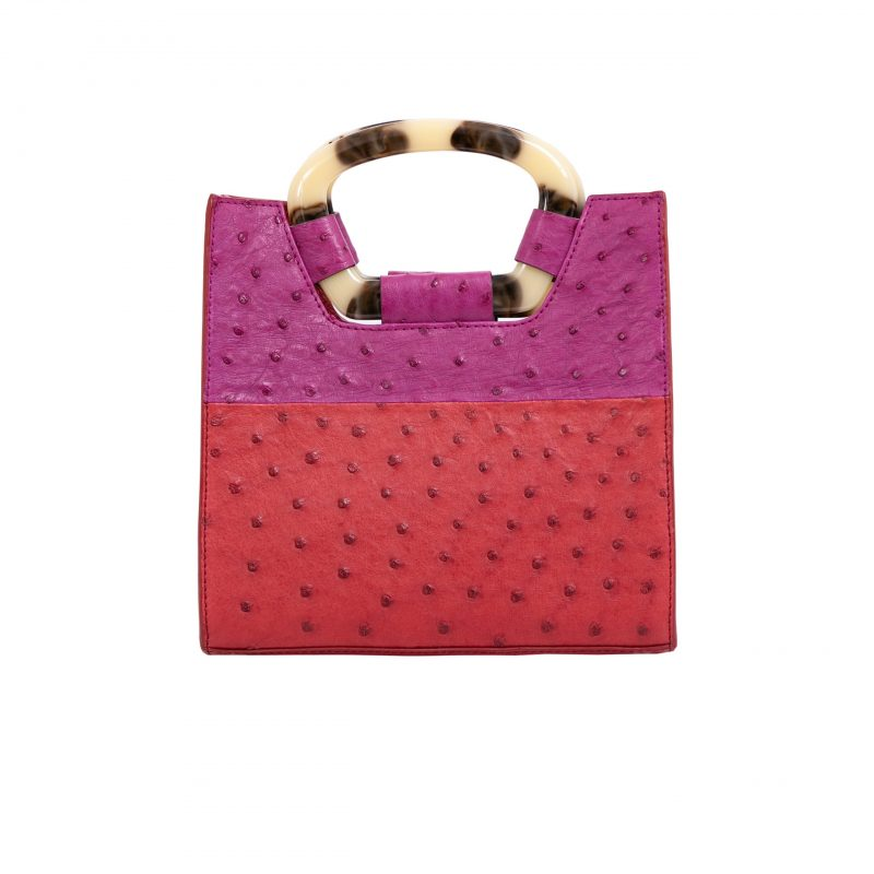 Palma in Rouge & Orchid Ostrich Combination 3