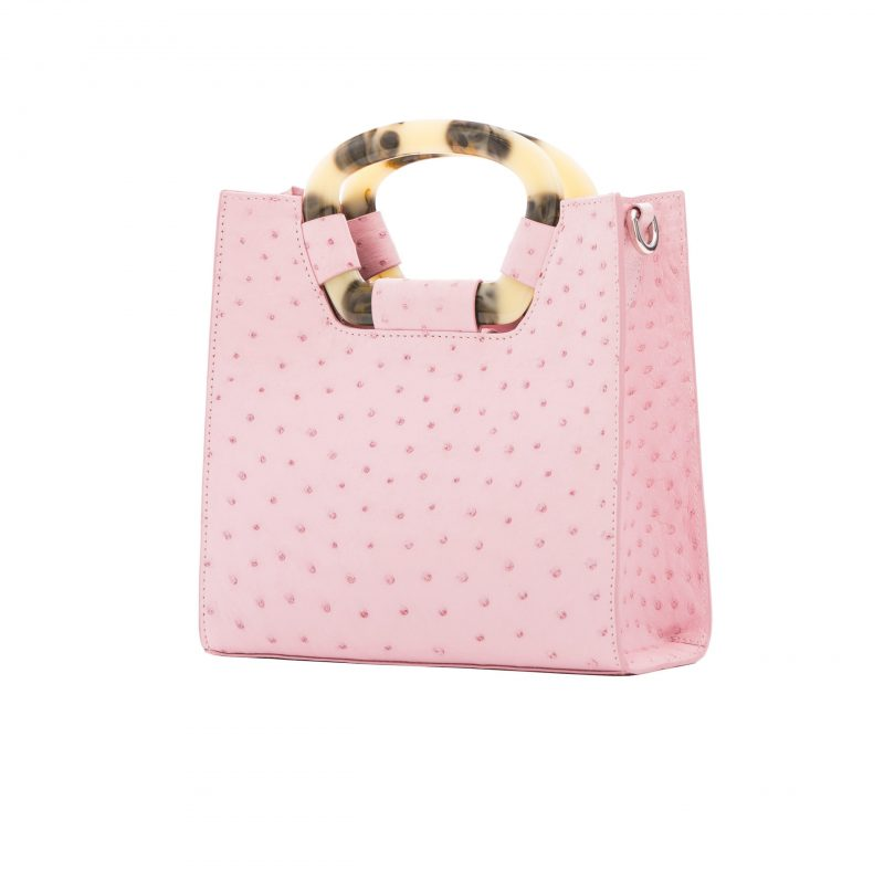 Palma in Powder Pink Ostrich 2