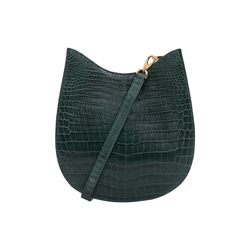 Capri in Matt Dark Green Crocodile 1