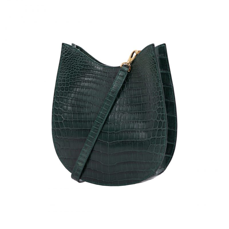 Capri in Matt Dark Green Crocodile 2