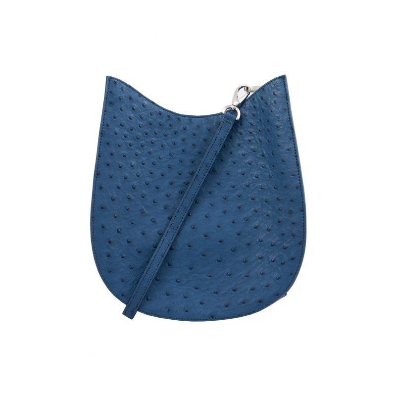 Capri in Cobalt Blue Ostrich 1