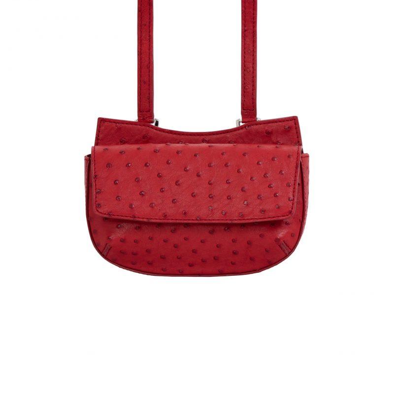 Fallow Beltbag in Rouge Ostrich 3