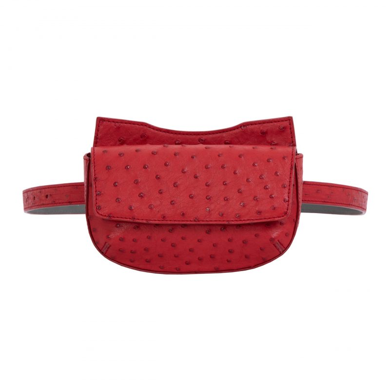 Fallow Beltbag in Rouge Ostrich 1