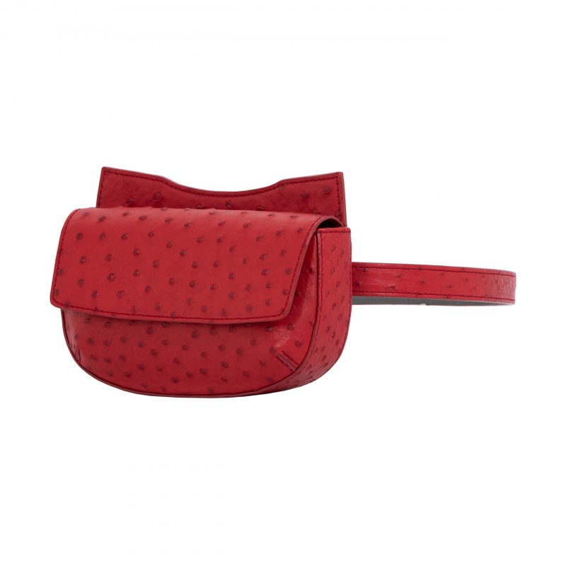 Fallow Beltbag in Rouge Ostrich 2