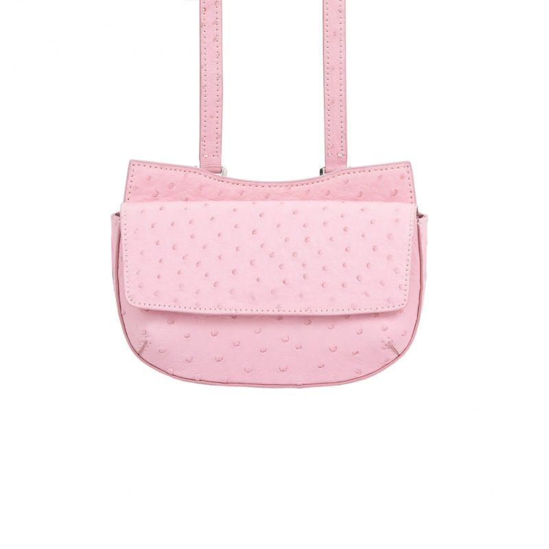 Fallow Beltbag in Powder Pink Ostrich 3