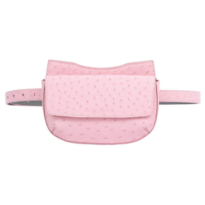 Fallow Beltbag in Powder Pink Ostrich 1