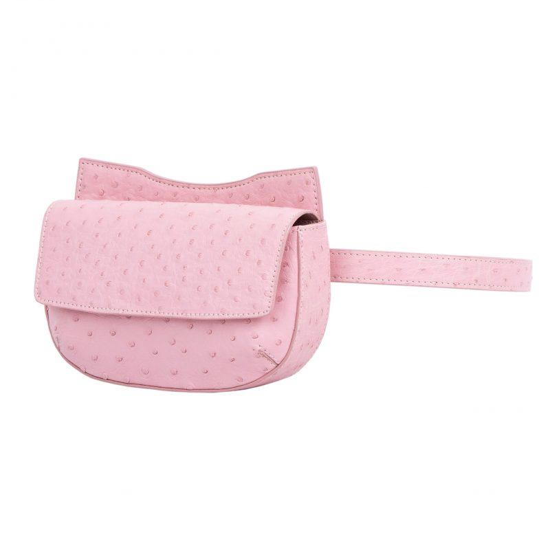 Fallow Beltbag in Powder Pink Ostrich 2