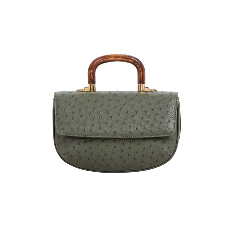 Picco in Forest Green Ostrich 3