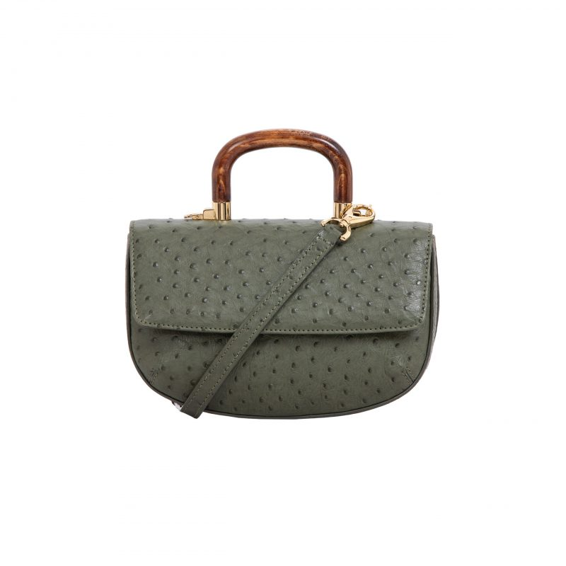 Picco in Forest Green Ostrich 1