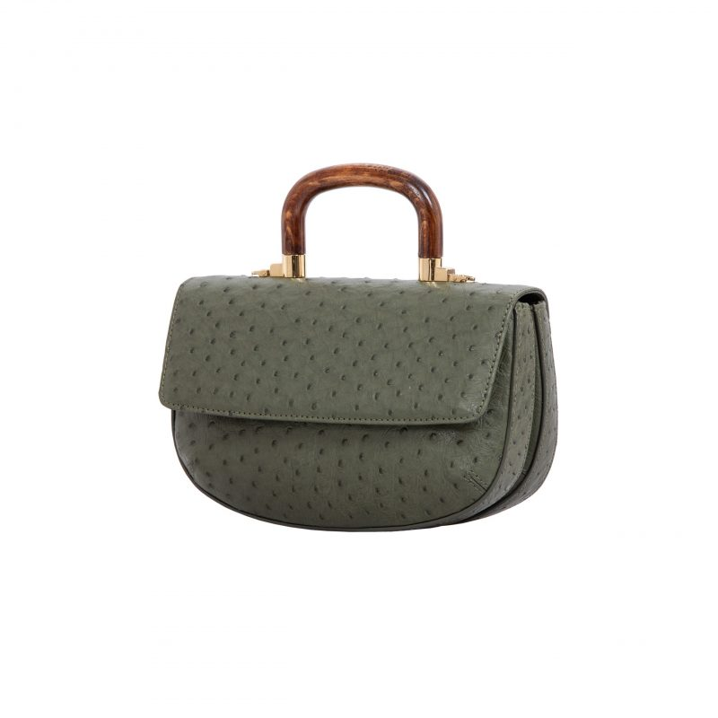 Picco in Forest Green Ostrich 2