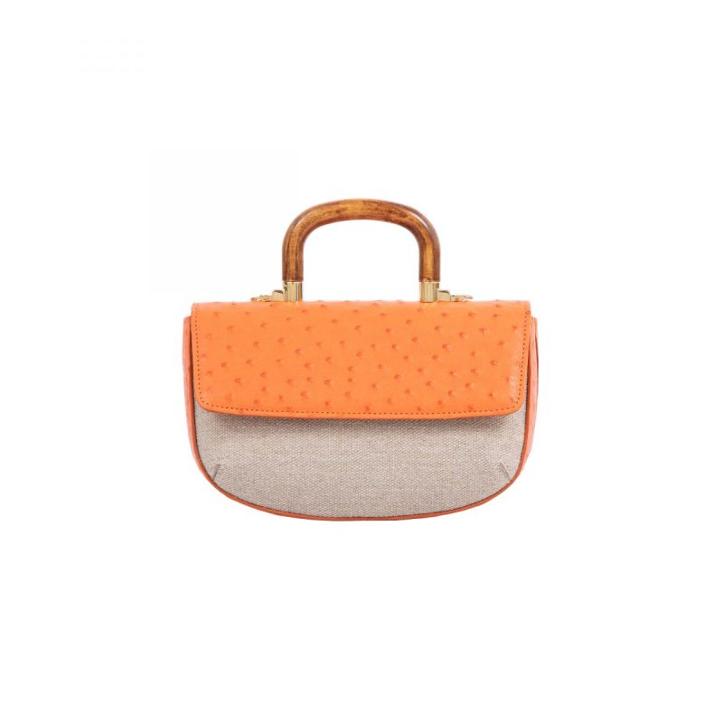Picco Resort 19/20 Tangerine Ostrich & Canvas Combination 3