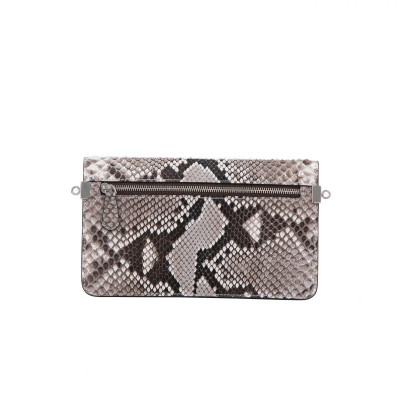 Accordion Crossbody Wallet in Natural Shiny Python 3