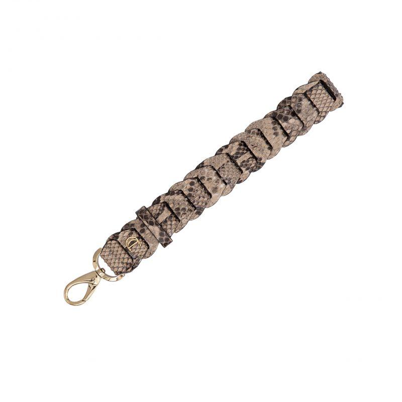 Link Wristlet in Nutmeg Python 1
