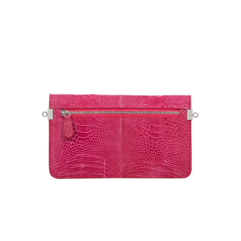 Accordion Crossbody Wallet in Lathyrus Ostrich Leg 3