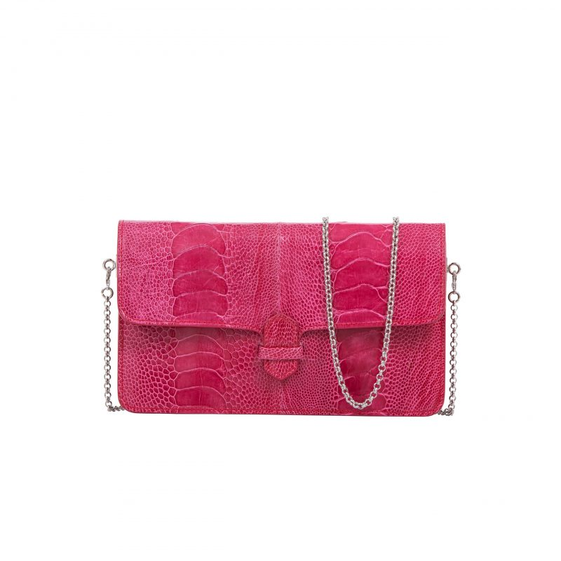 Accordion Crossbody Wallet in Lathyrus Ostrich Leg 1