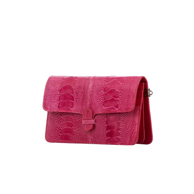 Accordion Crossbody Wallet in Lathyrus Ostrich Leg 2