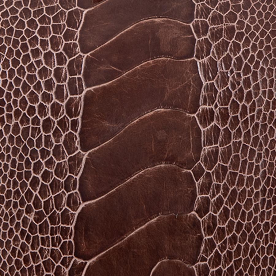 Ostrich Leg Burnt Amber