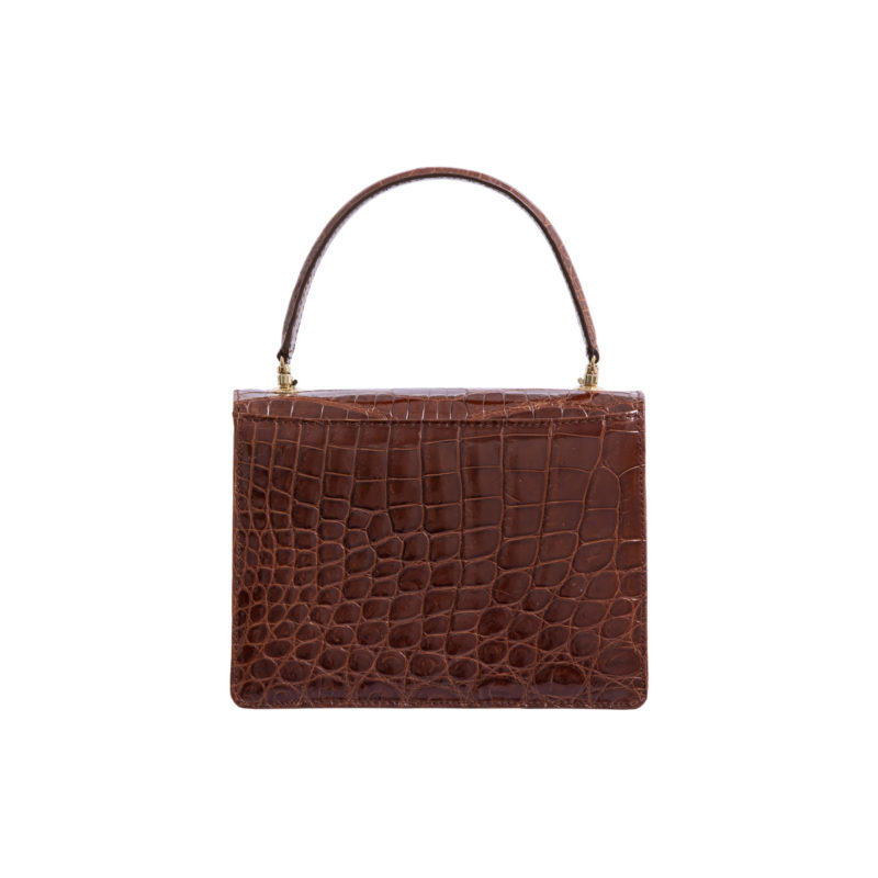 MAXIME IN SPORTS CUT SHINY COGNAC CROCODILE 4