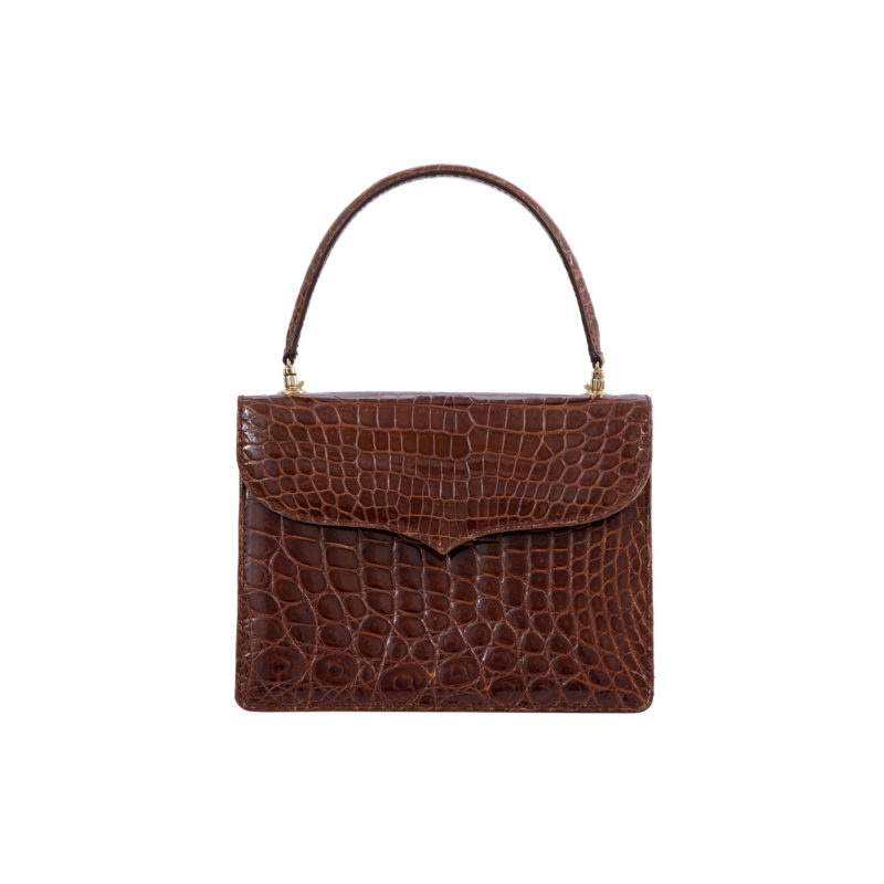 MAXIME IN SPORTS CUT SHINY COGNAC CROCODILE 1