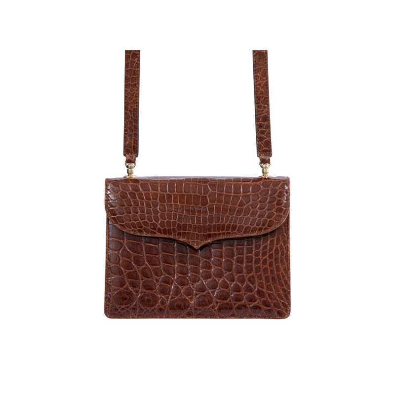 MAXIME IN SPORTS CUT SHINY COGNAC CROCODILE 3