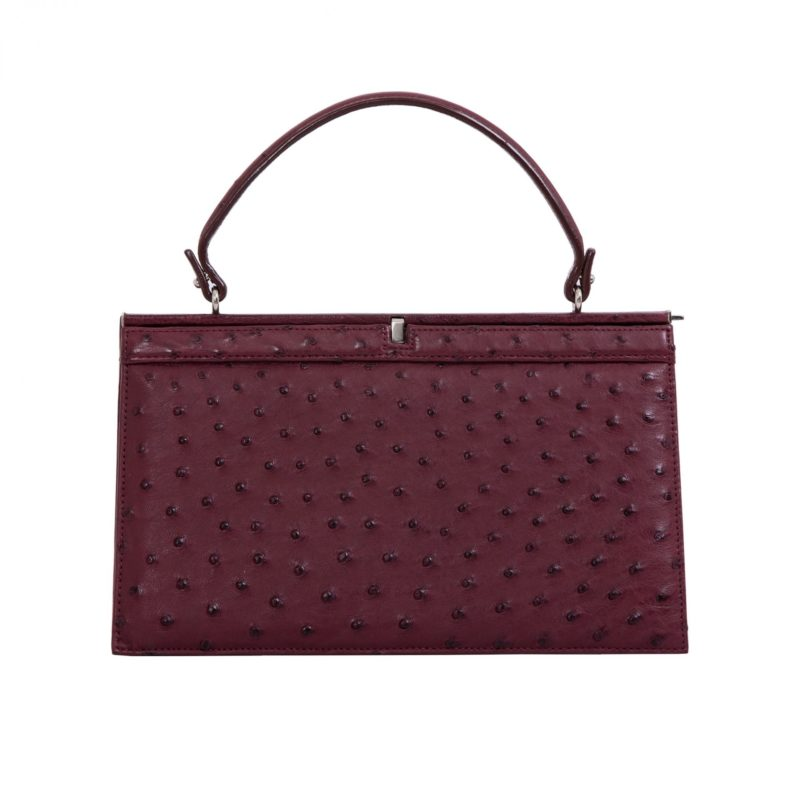 Cleo in Bordeaux Ostrich 1