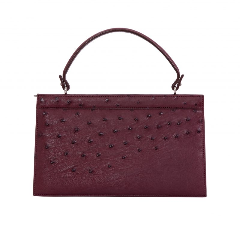 Cleo in Bordeaux Ostrich 3