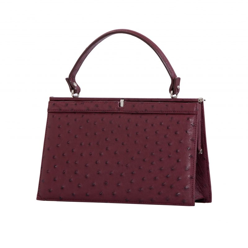 Cleo in Bordeaux Ostrich 2
