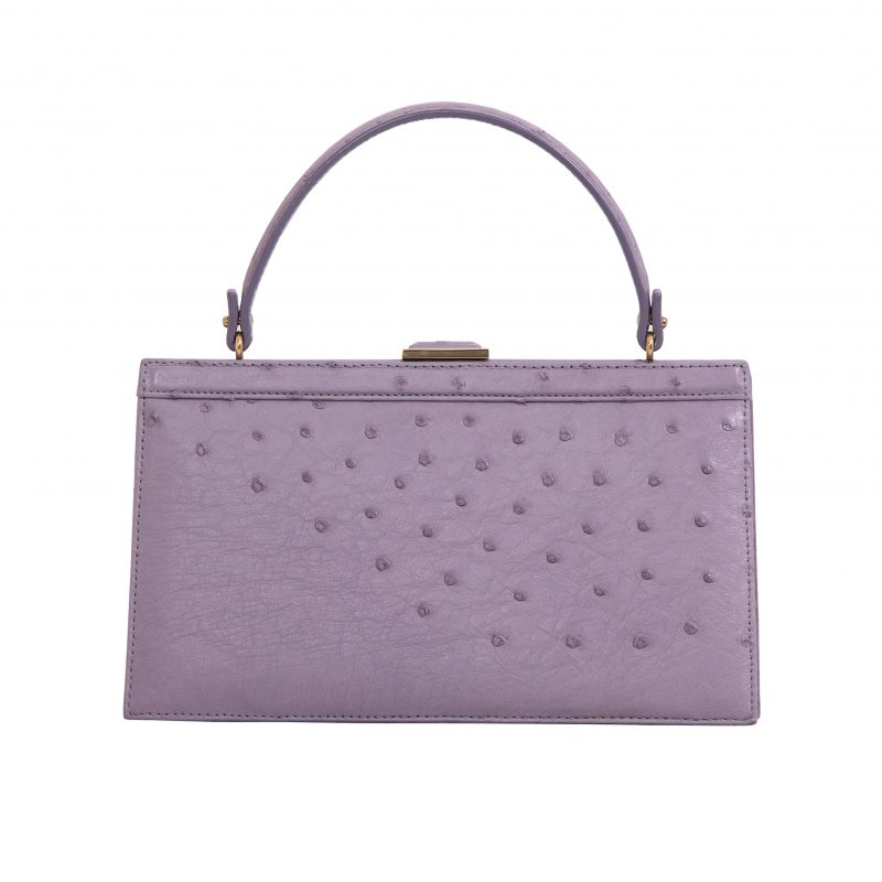 Cleo in Lavender Ostrich 3