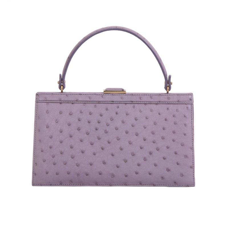Cleo in Lavender Ostrich 1