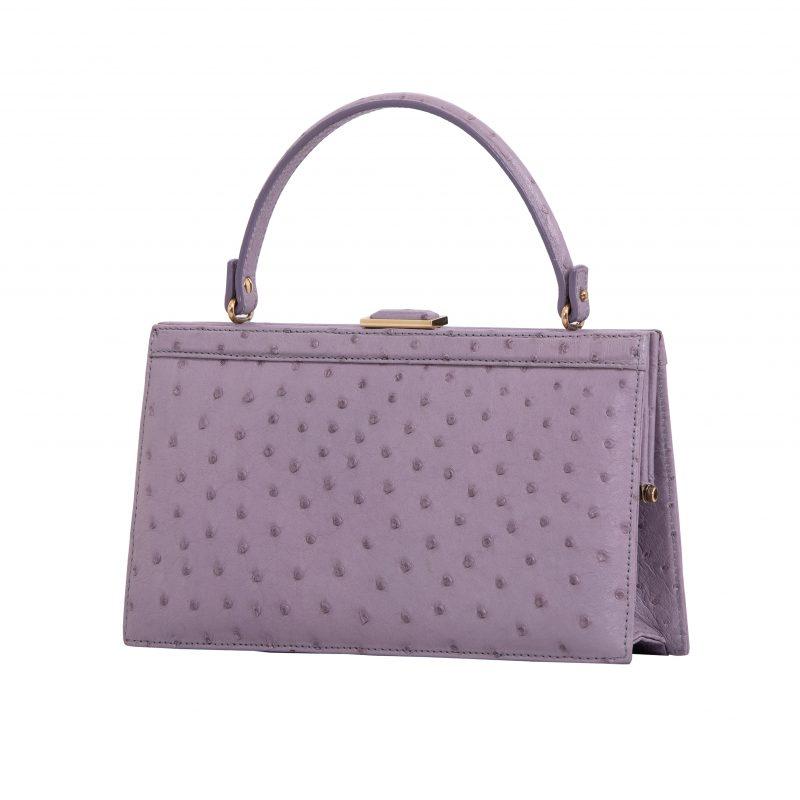 Cleo in Lavender Ostrich 2