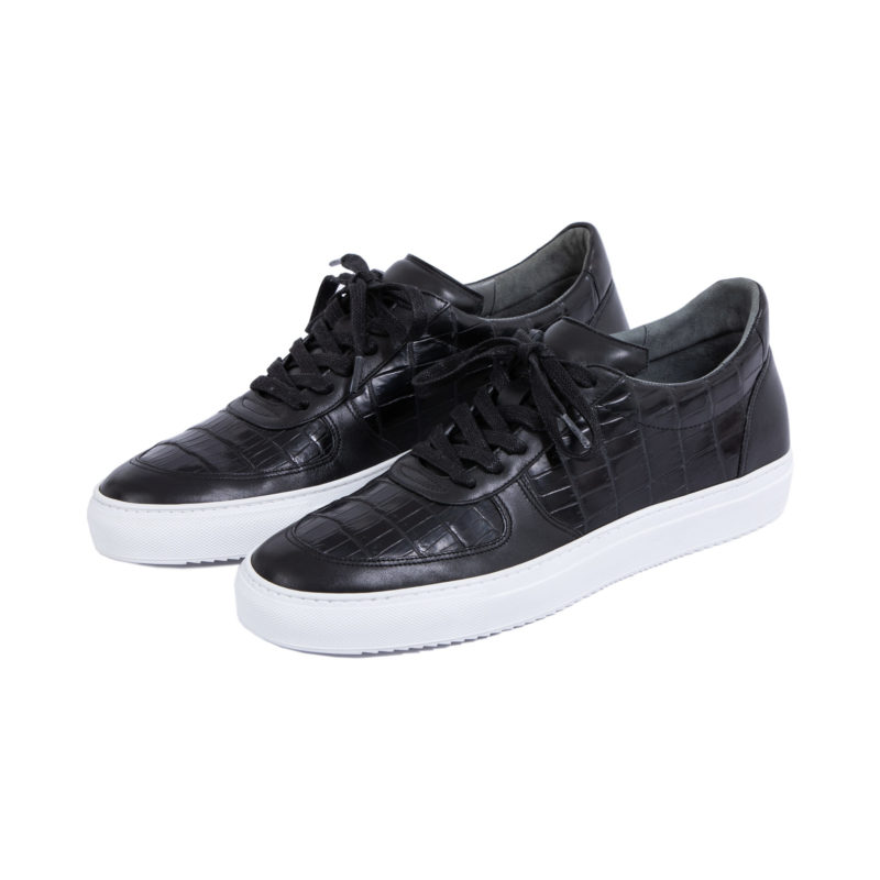 MADE TO ORDER SNEAKERS IN BLACK CROCODILE AND NAPPA 1