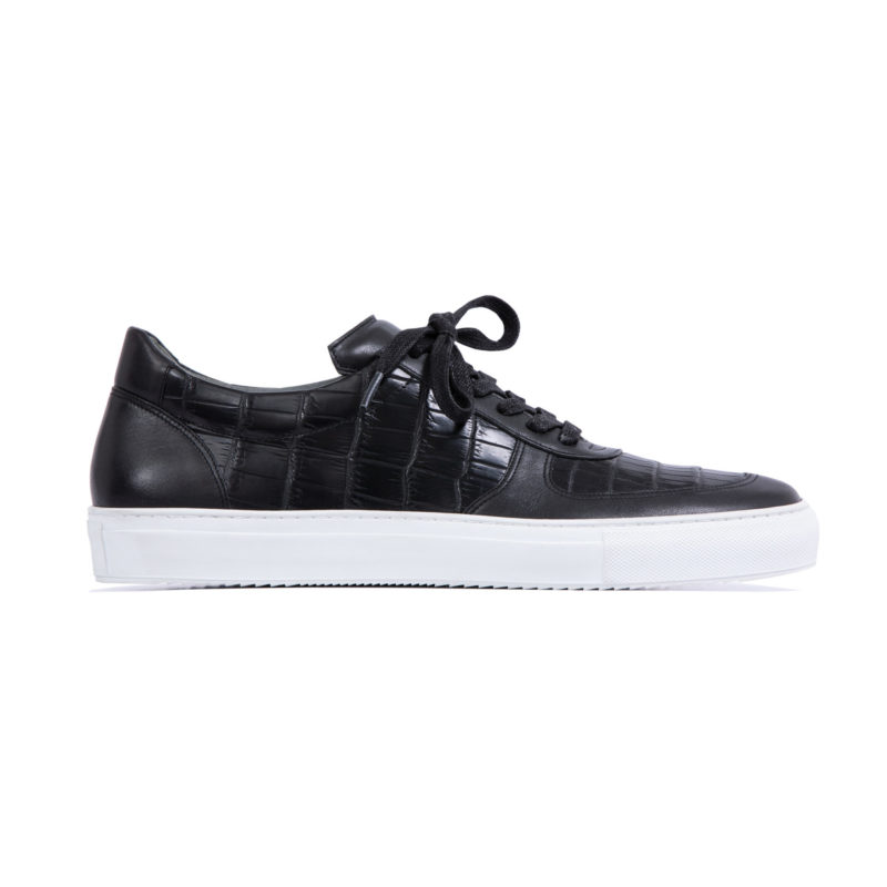 MADE TO ORDER SNEAKERS IN BLACK CROCODILE AND NAPPA 3