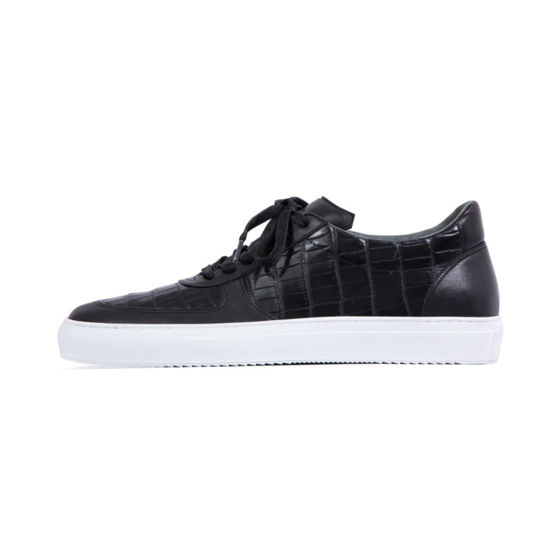 MADE TO ORDER SNEAKERS IN BLACK CROCODILE AND NAPPA 2