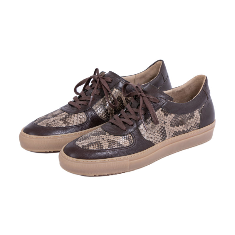 MADE TO ORDER SNEAKERS IN NUTMEG PYTHON AND NAPPA 1