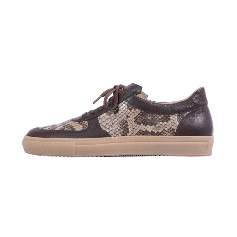 MADE TO ORDER SNEAKERS IN NUTMEG PYTHON AND NAPPA 2
