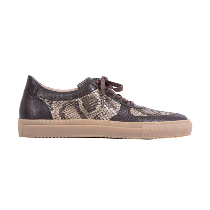 MADE TO ORDER SNEAKERS IN NUTMEG PYTHON AND NAPPA 3