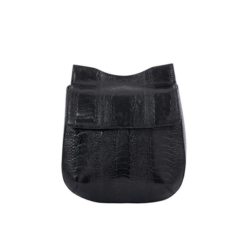 Fallow in Black Ostrich Leg 1