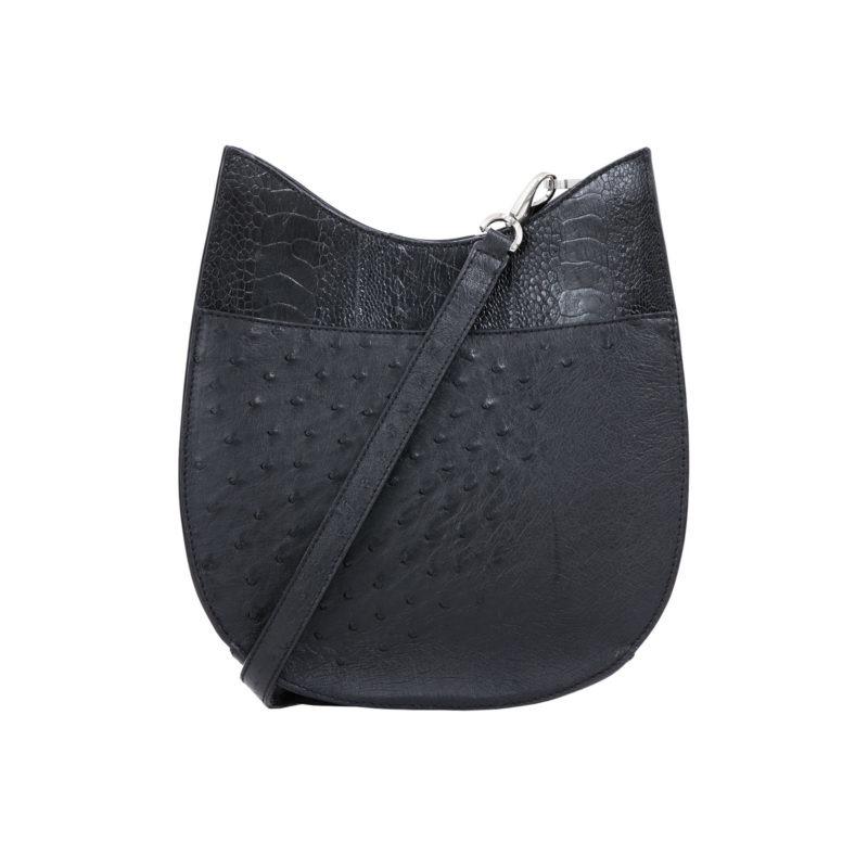 Capri in Black Ostrich Combination 1