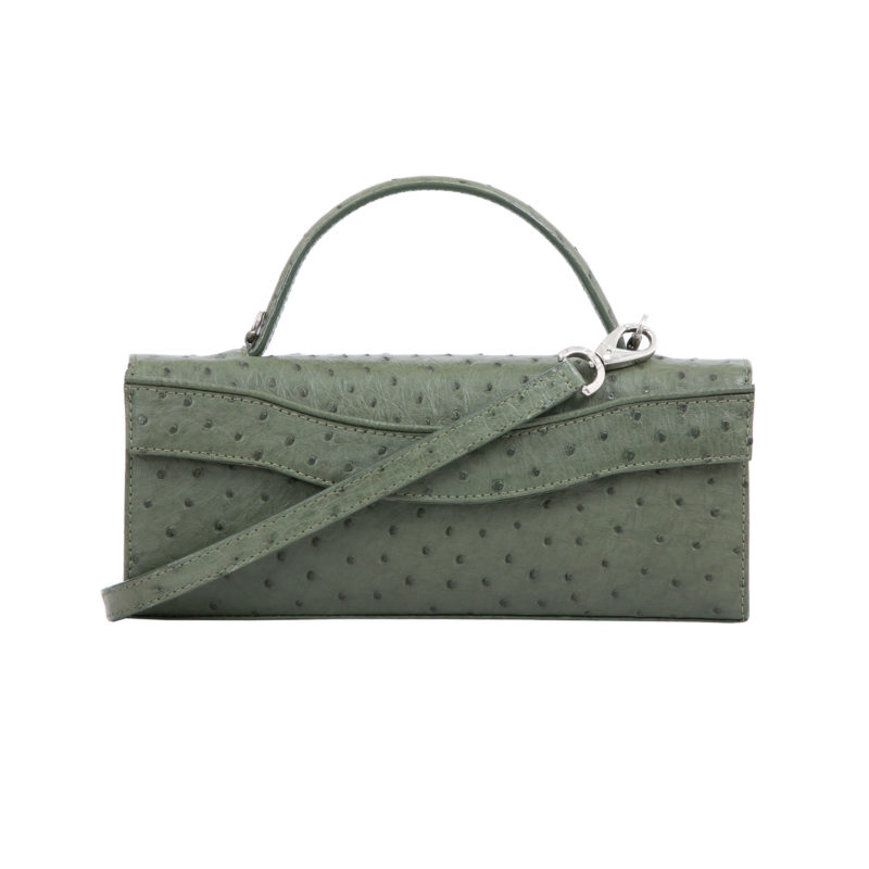 Oman in Forest Green Ostrich 1