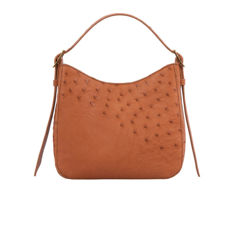 Mini Zoe in Cognac Ostrich 3
