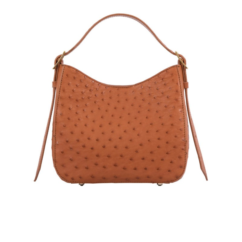 Mini Zoe in Cognac Ostrich 1