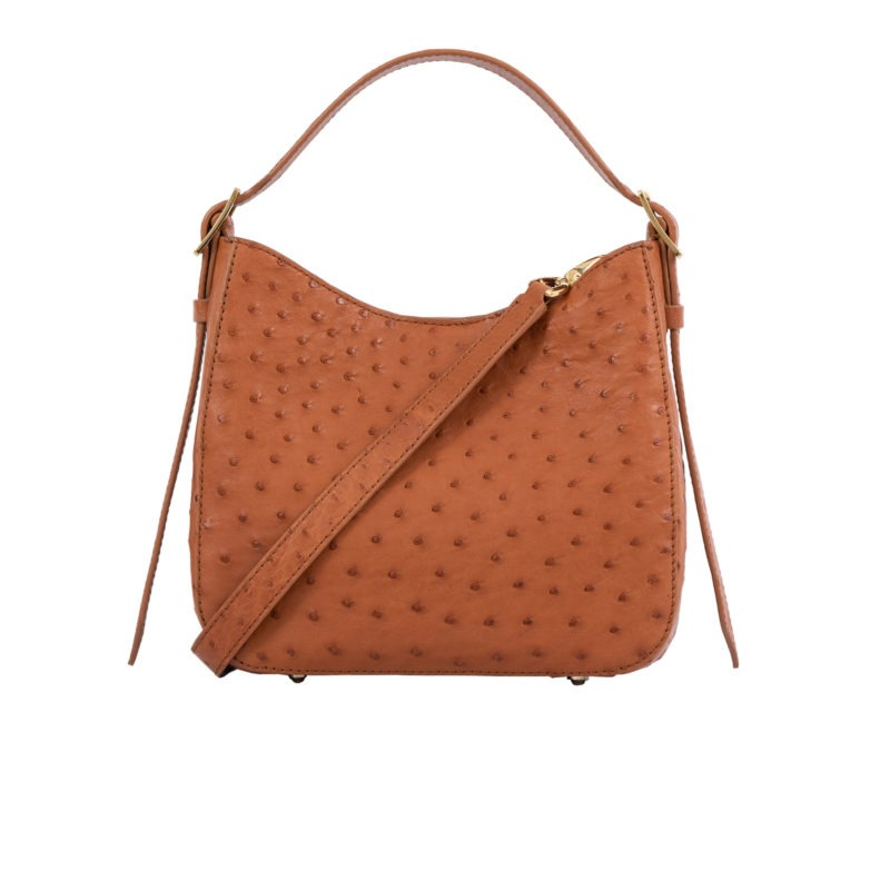 Mini Zoe in Cognac Ostrich 4