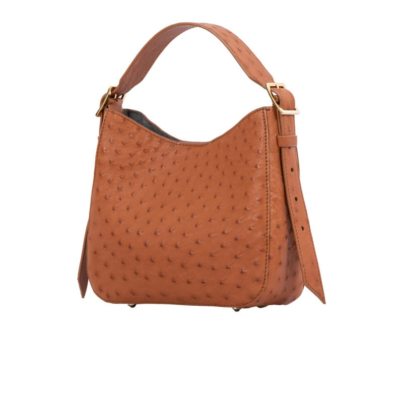 Mini Zoe in Cognac Ostrich 2
