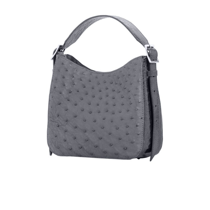 Mini Zoe in Anthracite Ostrich Combination 2