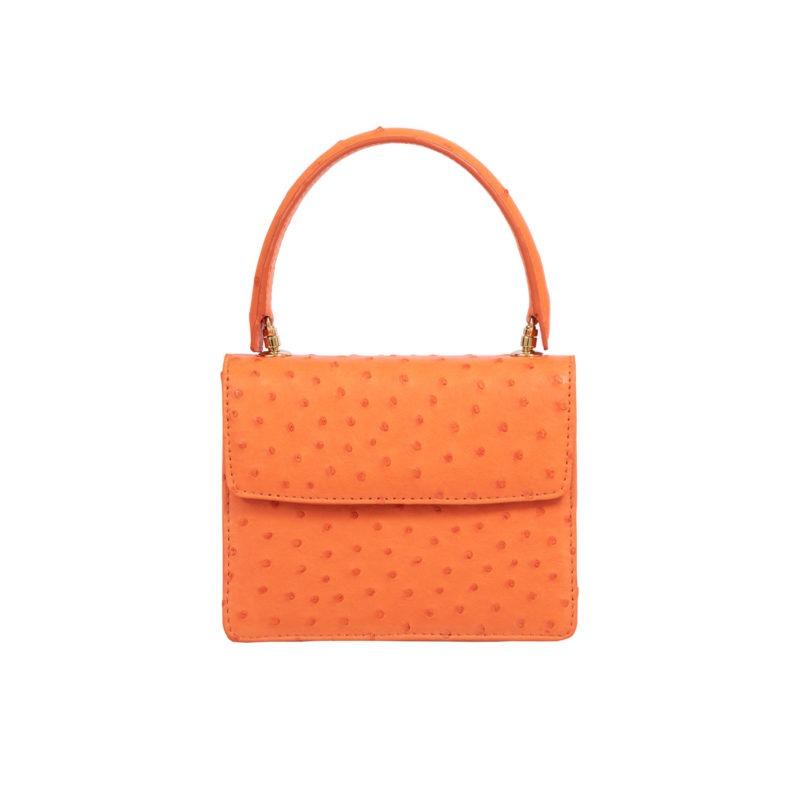 Mini Maxi in Tangerine Ostrich 1